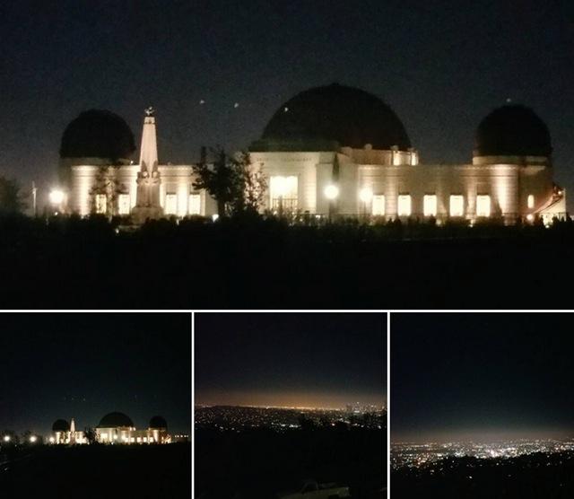 グリフィス天文台の夜景
